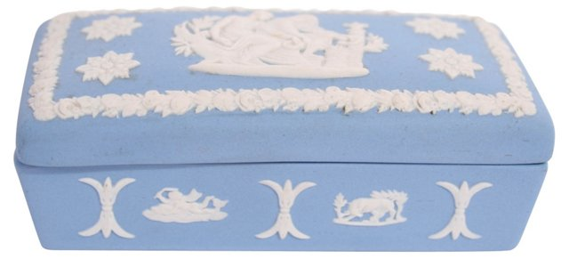 Blue Wedgwood Box