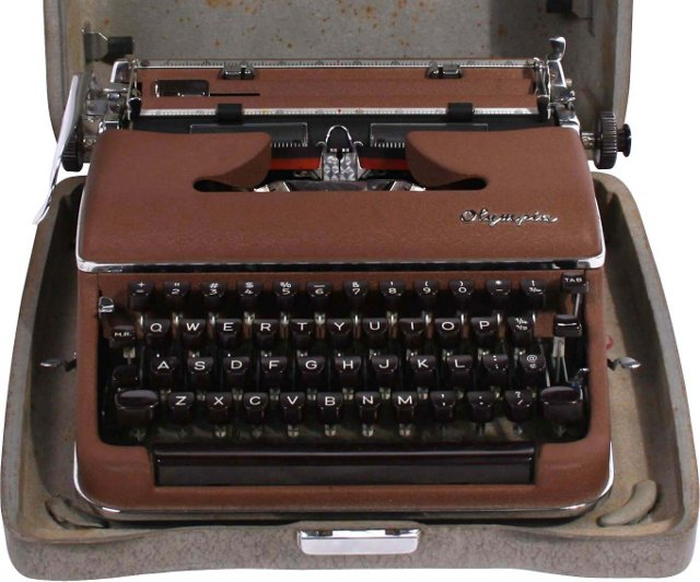 Portable Typewriter by Olympia