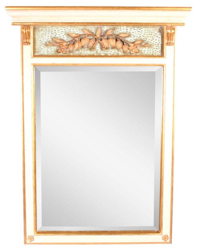 Giltwood French Trumeau Mirror