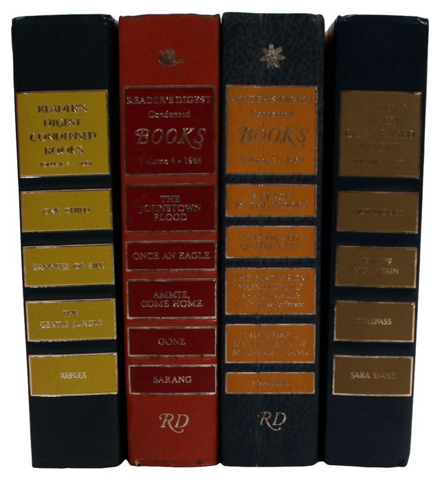 Yellow Decorative Books, S/4