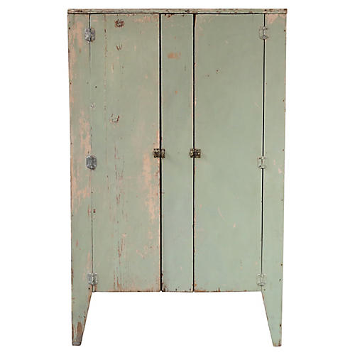Green 2-Door Short Cabinet