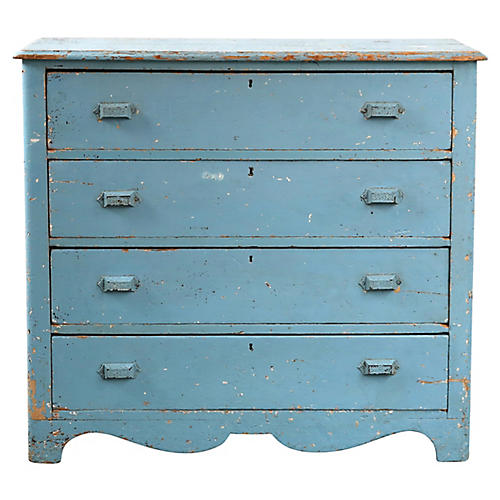 Blue Farmhouse Dresser