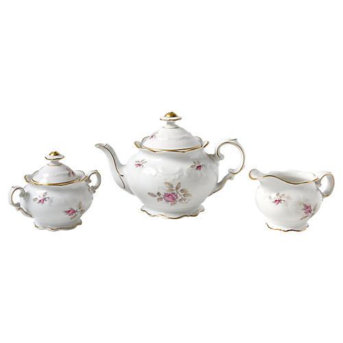Porcelain Tea Set, 3 Pcs