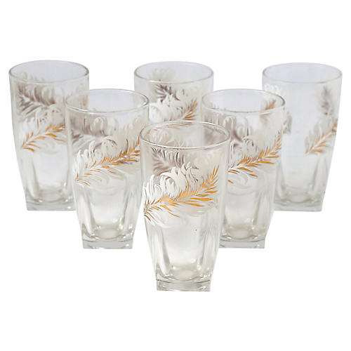 Feather Tumblers, S/8