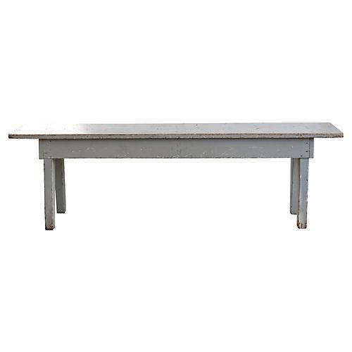 Gray Farmhouse-Style Bench