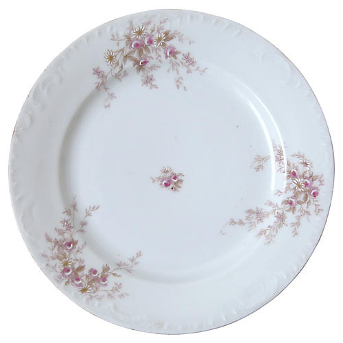 White Floral Plate