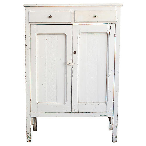 White Cabinet With Drawers