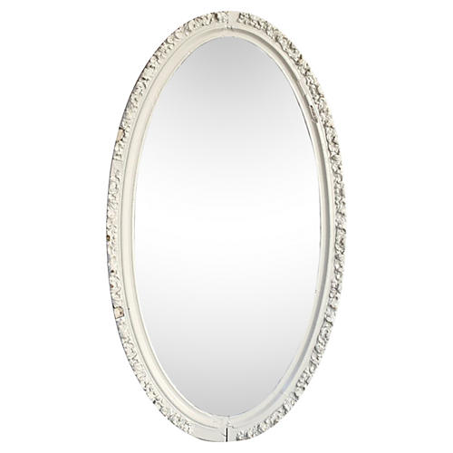 Oval Hand-Carved Mirror