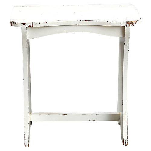 Small White Bench