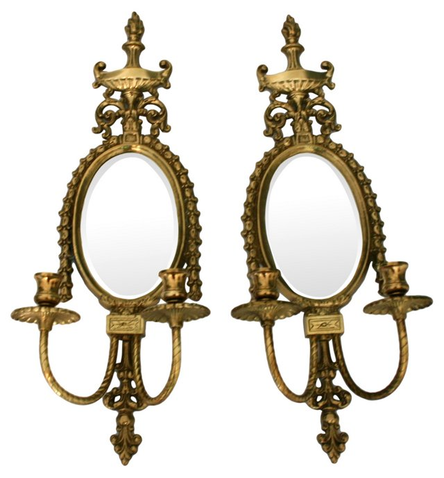 Ornate French Sconces, Pair