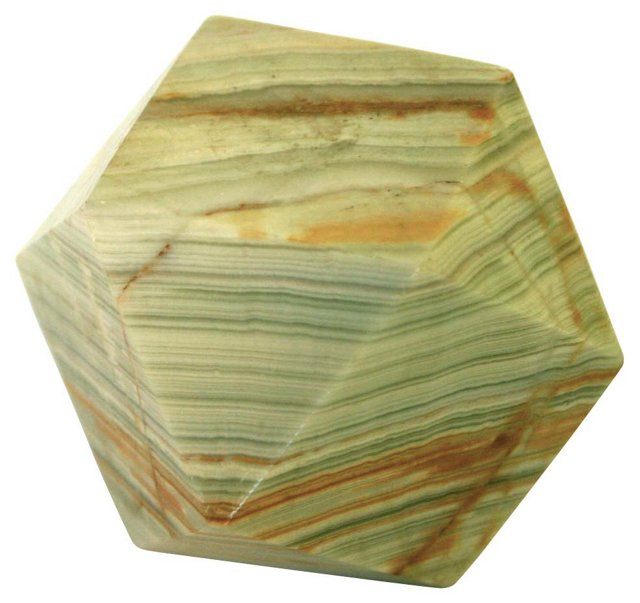 Marble Polygon Paperweight