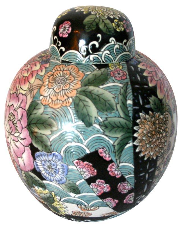 Floral Asian Urn