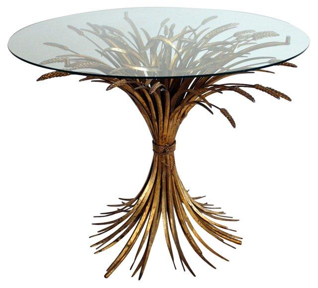 Midcentury Wheat Sheaf Table