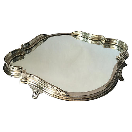 Quatrefoil Mirrored Plateau