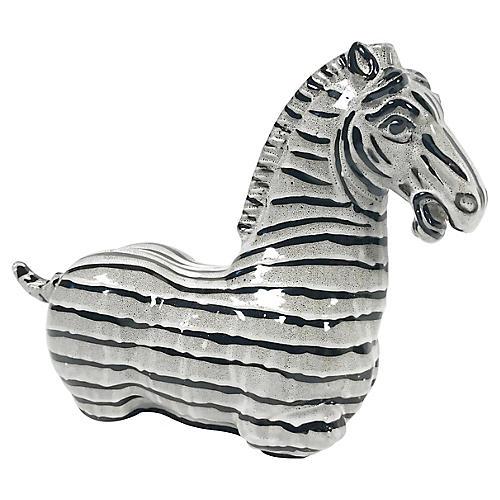 Ceramic Zebra Figure