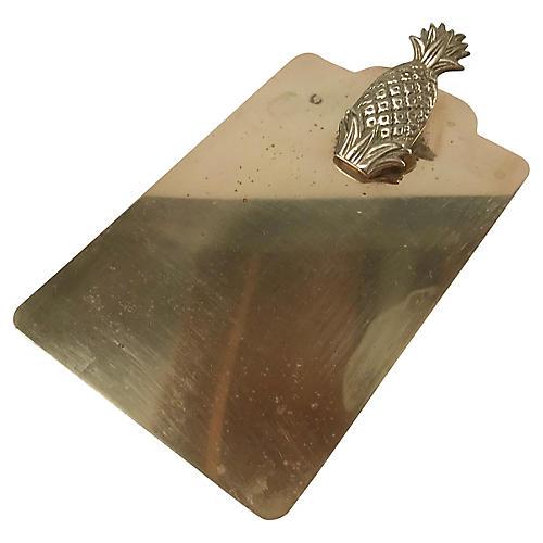 Brass Pineapple Clipboard