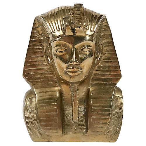 Brass King Tutankhamun Bust