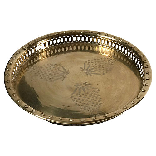 Brass Pineapple Tray