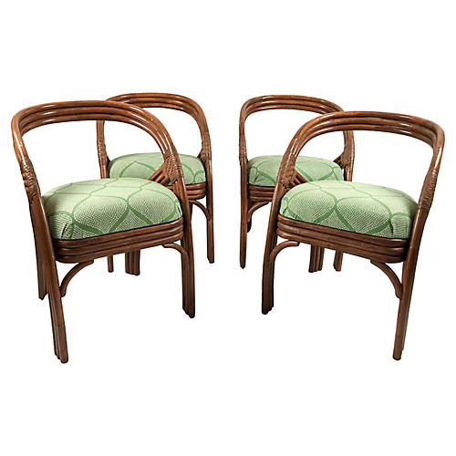 Ficks Reed Dining Chairs, S/4