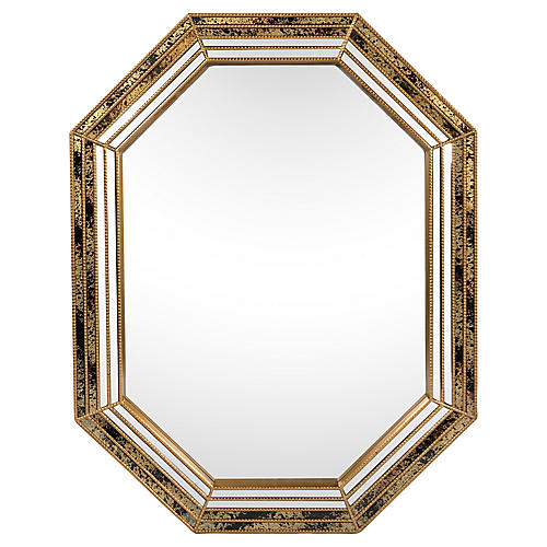 Octagonal Giltwood Mirror