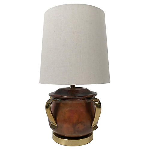 Copper & Brass Table Lamp
