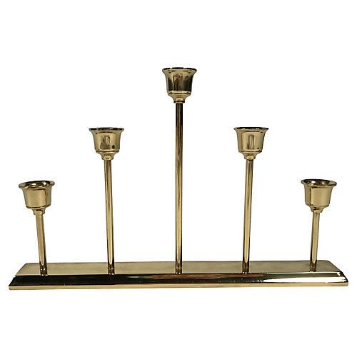 Brass Graduated Candlestick
