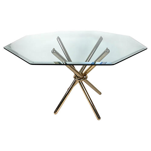 Brass Knot Dining Table