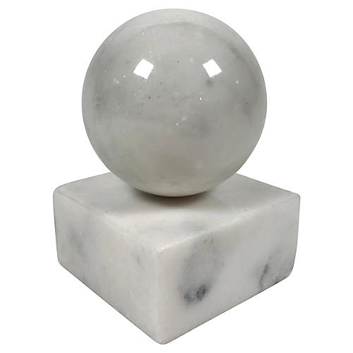 Stone Orb Sculpture
