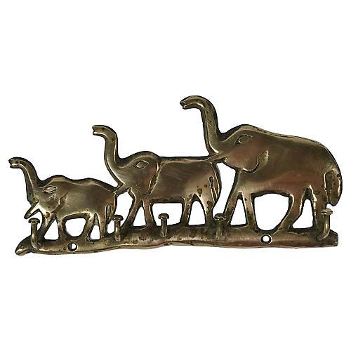 Brass Elephant Wall Hook