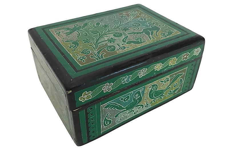 Wooden Decorated Trinket Box