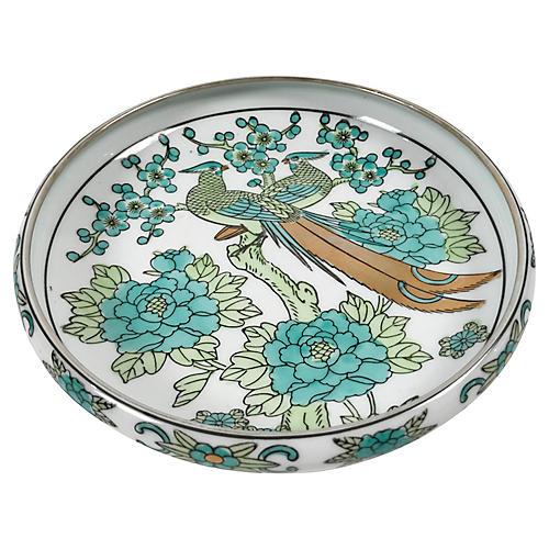 Hand Painted Imari Peacock Dish