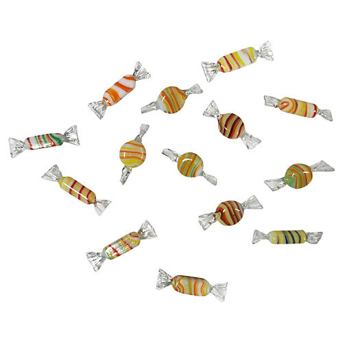 Murano Glass Wrap Candies, s/14