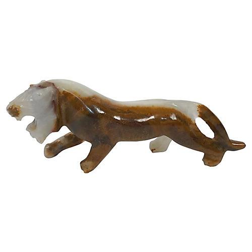 Onyx Tiger Figurine