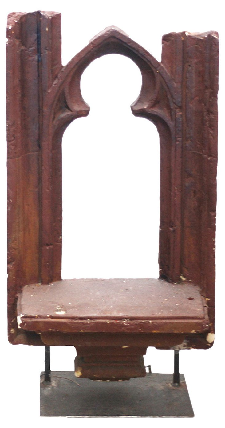 Antique Gothic Window Casing on Stand