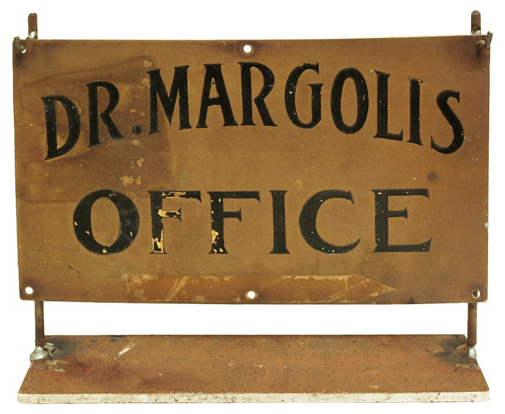Brass Doctor's Sign