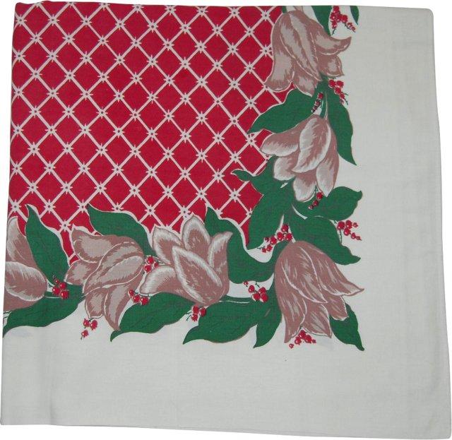 Tulips & Lattice Tablecloth