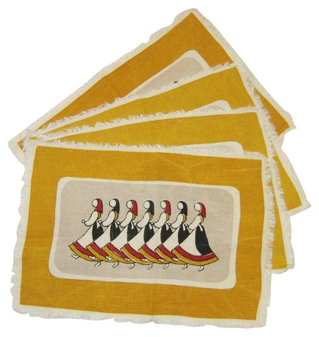 Swedish Dancer Place Mats, Set of 4