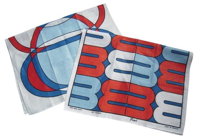 Mod Geometric Towels, Pair