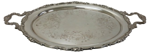 Oval Silverplate Tray