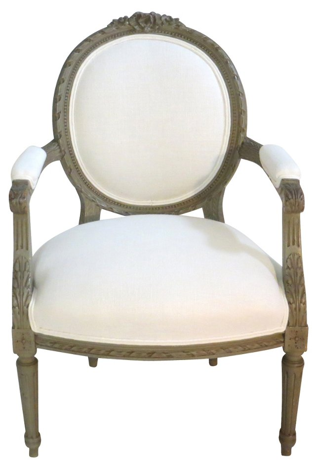Painted Louis XVI-Style Chair