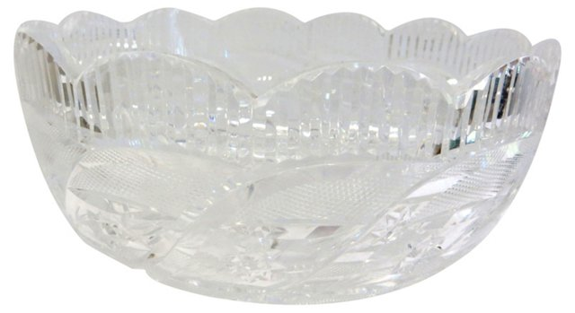 Crystal Bowl w/ Scalloped Edge