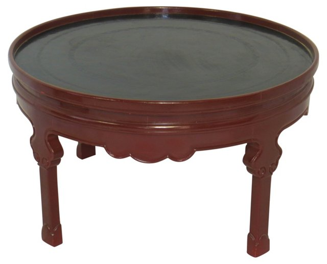 Oxblood Lacquer Coffee Table