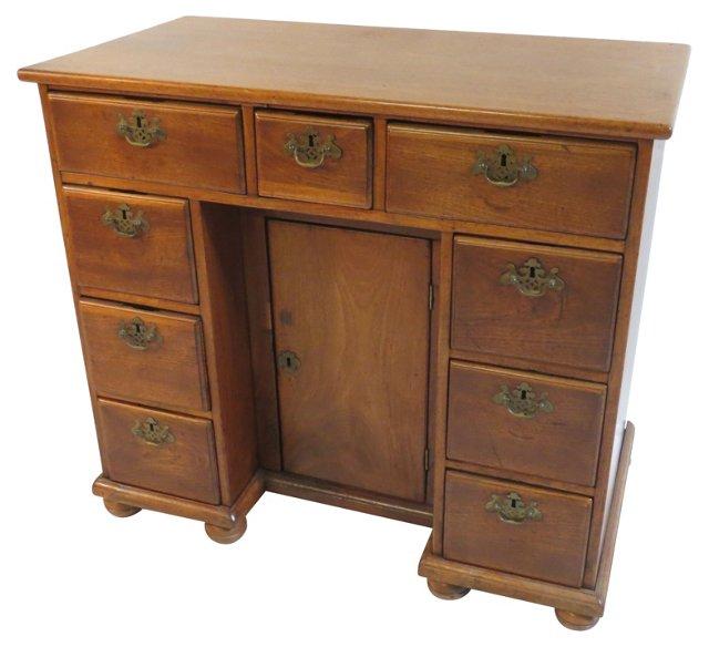 19th-C. English  Knee Hole Desk