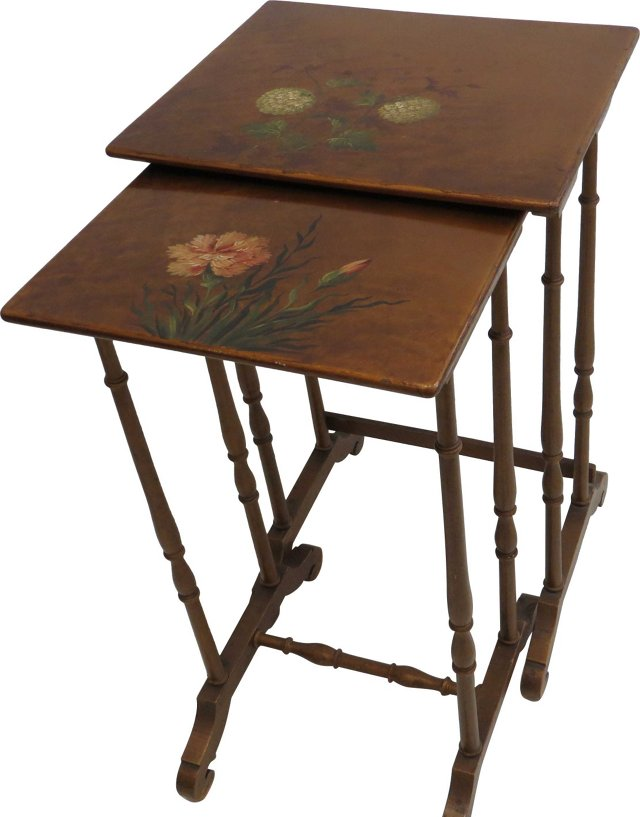 Lacquered Nesting Tables, Pair