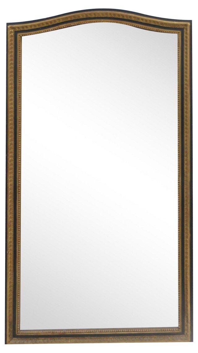 Gilt & Ebony Wood Framed Mirror