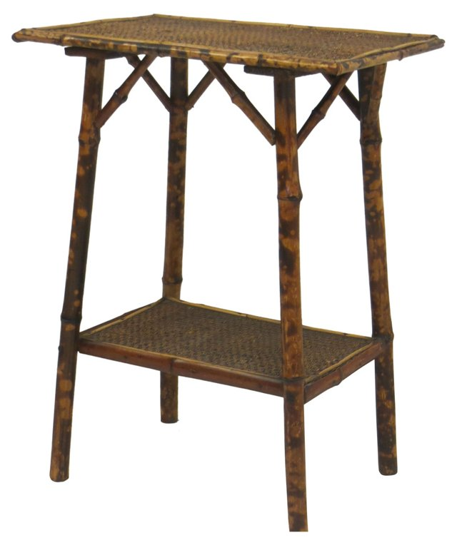 19th-C. Two-Tiered Bamboo Table