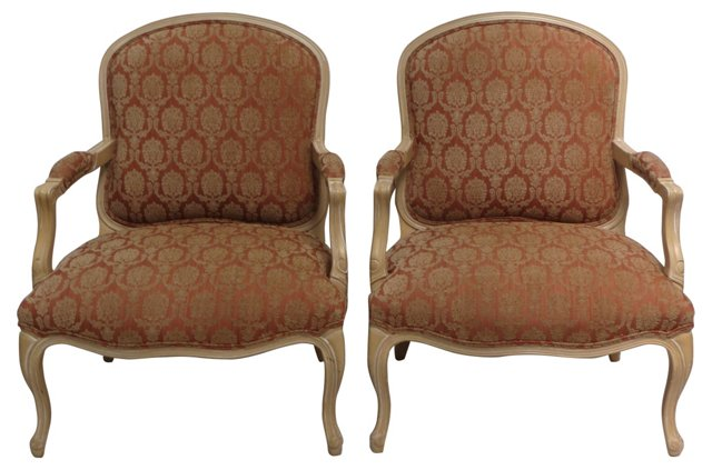 Armchairs  by Richard  Charles, Pair