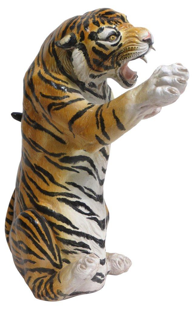 Italian Glazed Terracotta Tiger