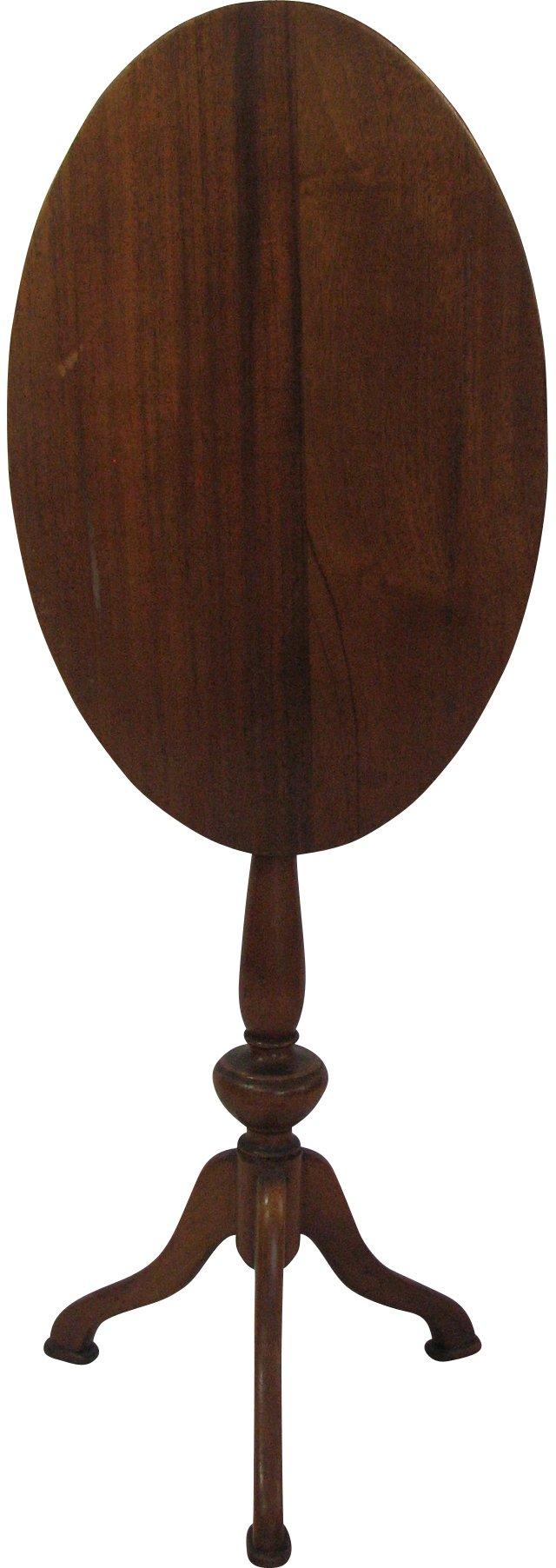 19th-C. English Tilt-Top Table