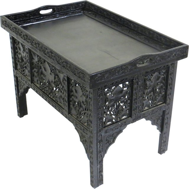 Anglo Indian Lacquer Tray Table